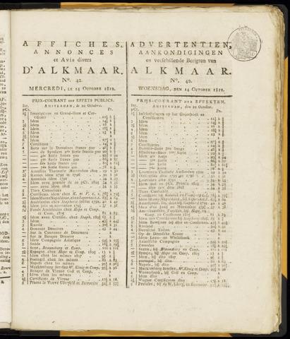 Alkmaarsche Courant 1812-10-14