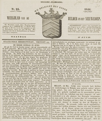 Weekblad van Den Helder en het Nieuwediep 1844-06-17