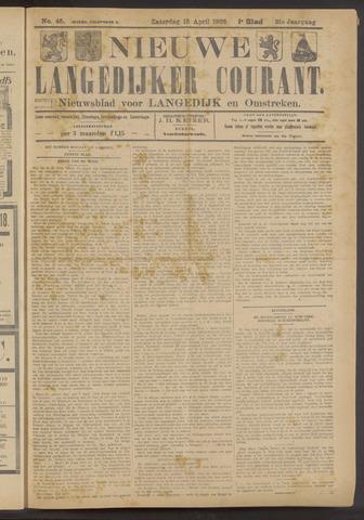 Nieuwe Langedijker Courant 1922-04-15