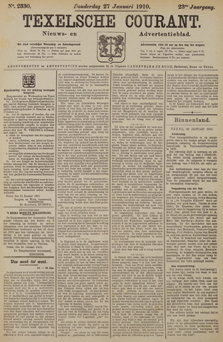 Texelsche Courant 1910-01-27