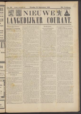 Nieuwe Langedijker Courant 1925-09-29
