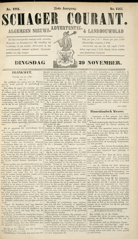 Schager Courant 1881-11-28
