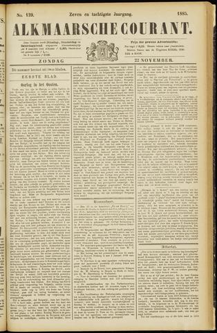 Alkmaarsche Courant 1885-11-22