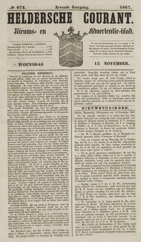 Heldersche Courant 1867-11-13