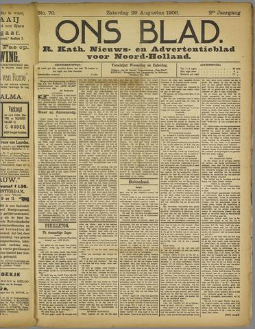 Ons Blad : katholiek nieuwsblad voor N-H 1908-08-29