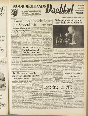Noordhollands Dagblad : dagblad voor Alkmaar en omgeving 1953-11-05