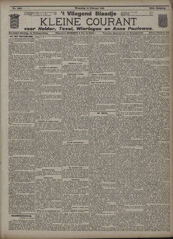 Vliegend blaadje : nieuws- en advertentiebode voor Den Helder 1910-02-16