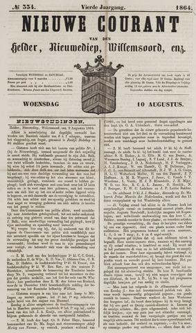 Nieuwe Courant van Den Helder 1864-08-10