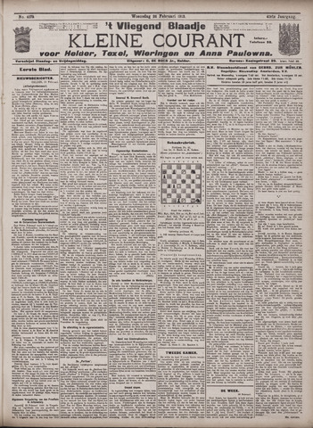 Vliegend blaadje : nieuws- en advertentiebode voor Den Helder 1913-02-26