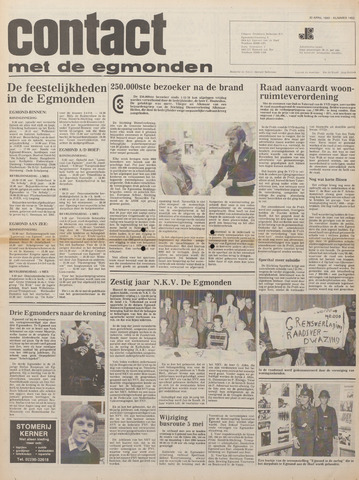 Contact met de Egmonden 1980-04-30