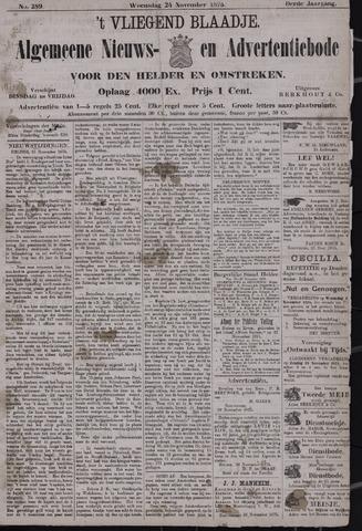 Vliegend blaadje : nieuws- en advertentiebode voor Den Helder 1875-11-24