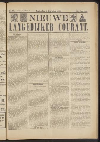 Nieuwe Langedijker Courant 1923-08-02