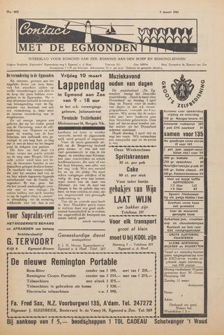 Contact met de Egmonden 1961-03-09