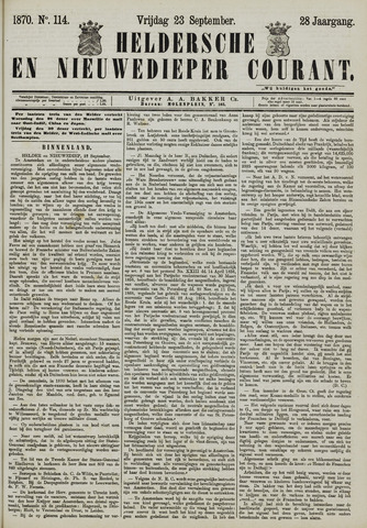 Heldersche en Nieuwedieper Courant 1870-09-23