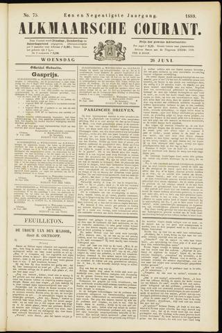 Alkmaarsche Courant 1889-06-26