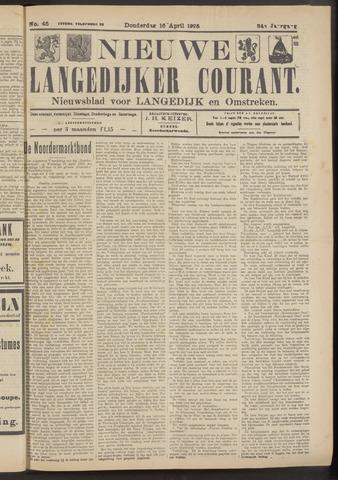 Nieuwe Langedijker Courant 1925-04-16