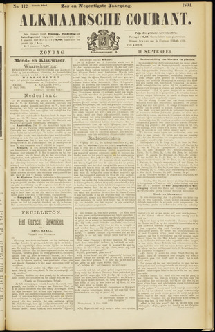 Alkmaarsche Courant 1894-09-16