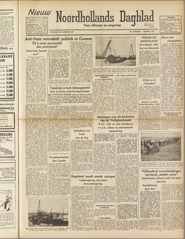Nieuw Noordhollandsch Dagblad : voor Alkmaar en omgeving 1947-08-28