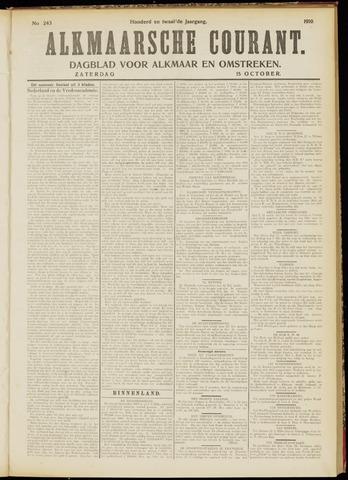 Alkmaarsche Courant 1910-10-15