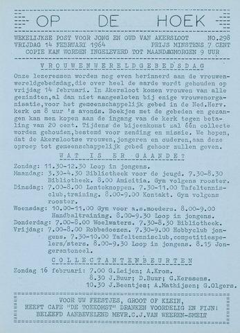 Op De Hoek, weekblad voor Akersloot 1964-02-14