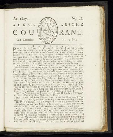 Alkmaarsche Courant 1807-06-29