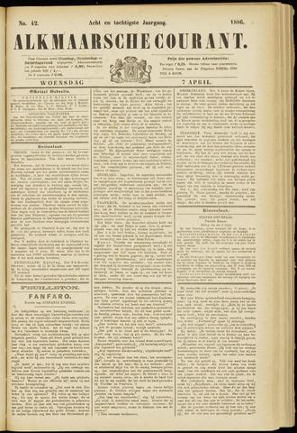 Alkmaarsche Courant 1886-04-07