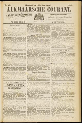 Alkmaarsche Courant 1903-11-04