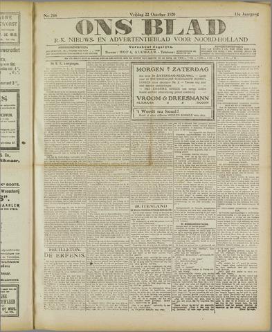 Ons Blad : katholiek nieuwsblad voor N-H 1920-10-22