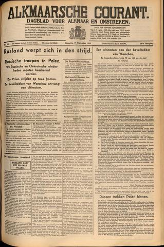 Alkmaarsche Courant 1939-09-18