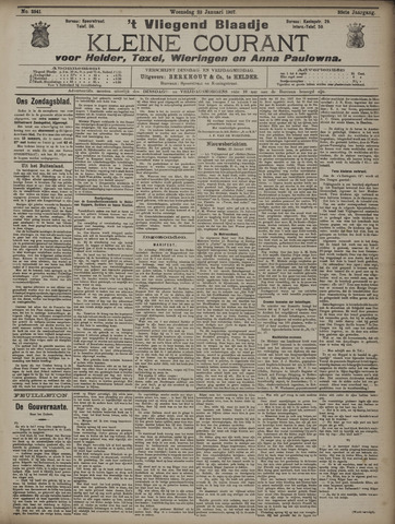 Vliegend blaadje : nieuws- en advertentiebode voor Den Helder 1907-01-23