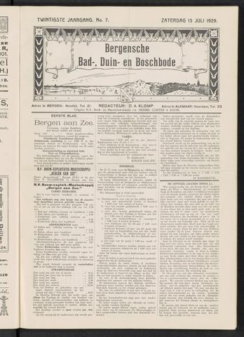 Bergensche bad-, duin- en boschbode 1929-07-13