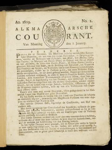 Alkmaarsche Courant 1809-01-02