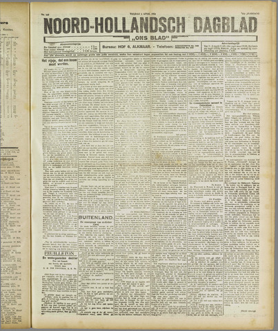 Ons Blad : katholiek nieuwsblad voor N-H 1921-04-01