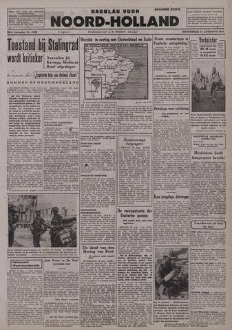 Dagblad Noord-Holland, Schager editie 1942-08-27