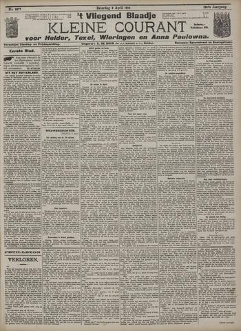 Vliegend blaadje : nieuws- en advertentiebode voor Den Helder 1910-04-09