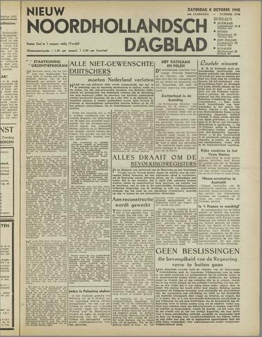 Nieuw Noordhollandsch Dagblad : voor Alkmaar en omgeving 1945-10-06