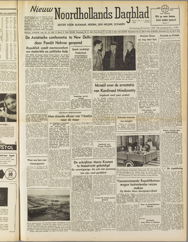 Nieuw Noordhollandsch Dagblad : voor Alkmaar en omgeving 1949-01-20