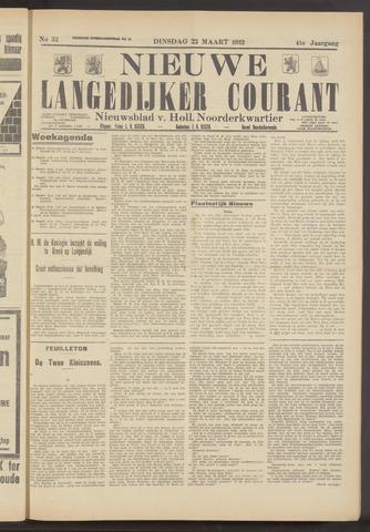 Nieuwe Langedijker Courant 1932-03-22