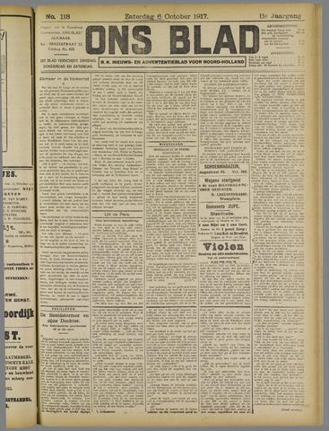 Ons Blad : katholiek nieuwsblad voor N-H 1917-10-06