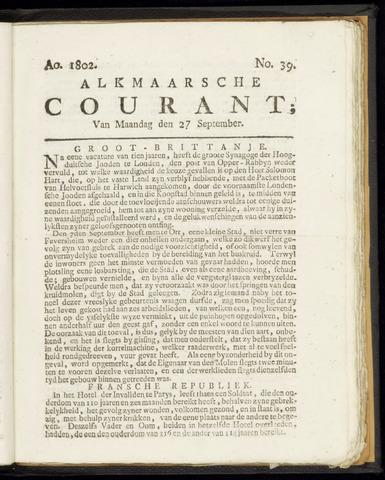 Alkmaarsche Courant 1802-09-27