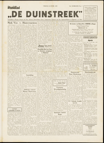 De Duinstreek 1959-02-20