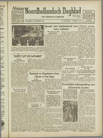 Nieuw Noordhollandsch Dagblad : voor Alkmaar en omgeving 1946-09-12