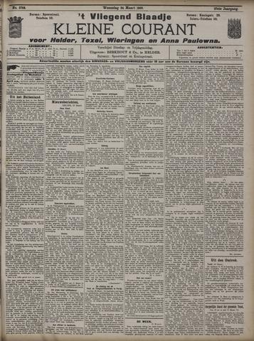 Vliegend blaadje : nieuws- en advertentiebode voor Den Helder 1909-03-24