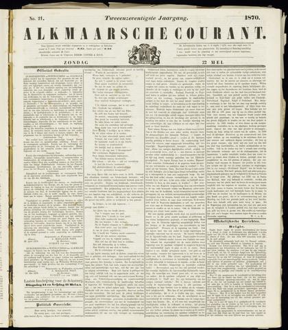 Alkmaarsche Courant 1870-05-22