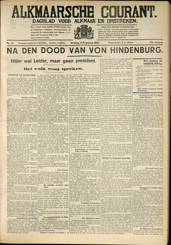 Alkmaarsche Courant 1934-08-03