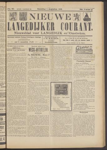 Nieuwe Langedijker Courant 1925-08-01