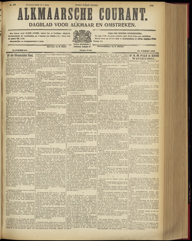 Alkmaarsche Courant 1928-02-18