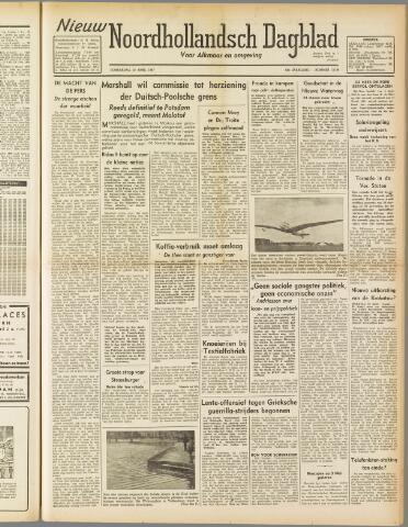 Nieuw Noordhollandsch Dagblad : voor Alkmaar en omgeving 1947-04-10