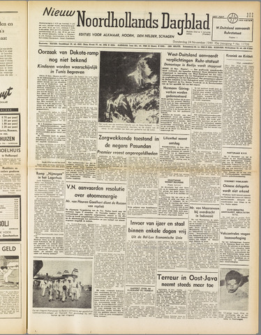 Nieuw Noordhollandsch Dagblad : voor Alkmaar en omgeving 1949-11-24