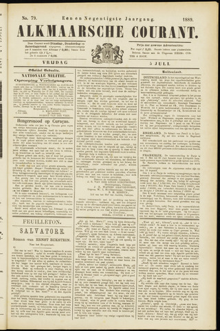 Alkmaarsche Courant 1889-07-05